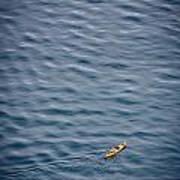 Kayaking Alone Art Print