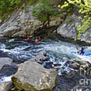 Kayaking Baby Falls Art Print