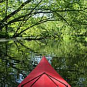 Kayaking Backwater Mississippi 1 Art Print
