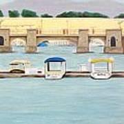kayaking on Mandalay Art Print
