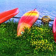 Kayaks At Lake Galena Art Print