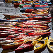 Kayaks At Rockport Art Print