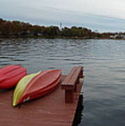 Kayaks By The Lake Nj Art Print