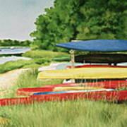 Kayaks In Limbo Art Print
