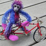 Toy Monkey On Toy Bike Art Print