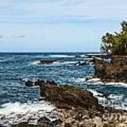 Keanae Coast - The Rugged Volcanic Coast Of The Keanae Peninsula In Maui. Art Print