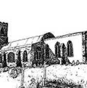Kedington Church Art Print