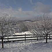 Kedron Valley After A Snow Art Print