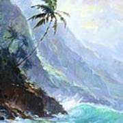 Ke'e Beach Art Print