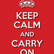 Keep Calm 2 Red Art Print