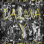 Keep Calm And Carry On Spanish Art Print