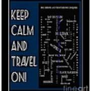 Keep Calm And Travel On Nova Scotia Crosswords Art Print