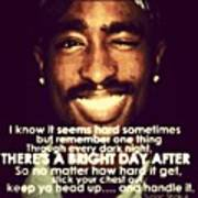 Keep Ya Head Up Always 2pac Quote Greeting Card For Sale By