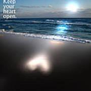 Keep Your Heart Open Art Print by Jeffery Fagan