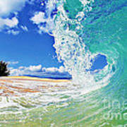 Keiki Beach Wave Art Print by Paul Topp