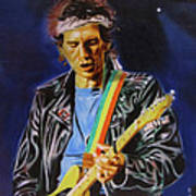 Keith Richards Of Rolling Stones Art Print