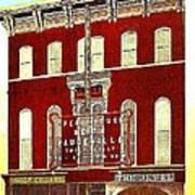 Keith's Jewel Vaudeville Theatre In Easton Pa In 1910 Art Print