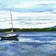 Kellogg's Bay Vt View Of Lake Champlain And Camel's Hump Art Print
