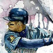 Ken Griffey Jr. Art Print by Michael  Pattison