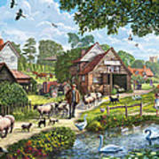 Kentish Farmer Art Print