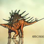 Kentrosaurus Dinosaur Art Print by Bob Orsillo