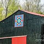 Kentucky Barn Quilt - 2 Art Print