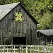 Kentucky Barn Quilt - 3 Art Print