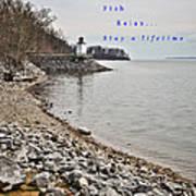 Kentucky Lake Inlet Lighthouse Travel Art Print