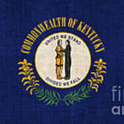 Kentucky State Flag Print by Pixel Chimp