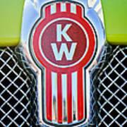 Kenworth Truck Emblem -1196c Art Print