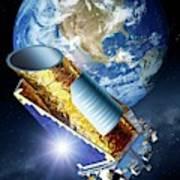 Kepler Space Telescope Art Print
