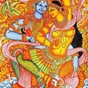 Kerala Fresco Mural Art Print