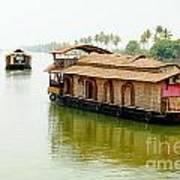 Kerala Houseboats Art Print