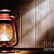 Kerosene Lantern Art Print
