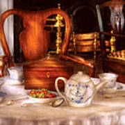 Kettle -  Have Some Tea - Chinese Tea Set Print by Mike Savad