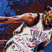 Kevin Durant Art Print by Maria Arango