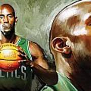 Kevin Garnett Artwork 1 Art Print