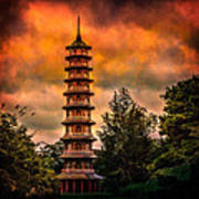 Kew Gardens Pagoda Art Print