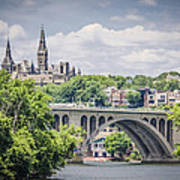 Key Bridge And Georgetown University Art Print
