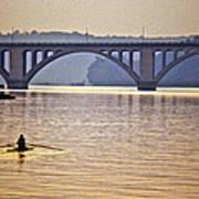 Key Bridge Rower Art Print