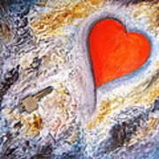 Key To My Heart Art Print by Heather Matthews