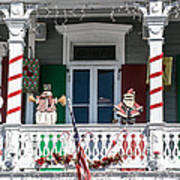 Key West Christmas Decorations 1 Art Print