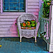 Key West Coconuts - Colorful House Porch Art Print
