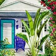 Key West Cottage Watercolor Art Print