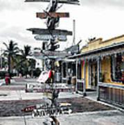 Key West Wharf Art Print