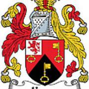 Keyes Coat Of Arms Irish Art Print