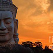 Khmer Sunrise Art Print by Pete Reynolds