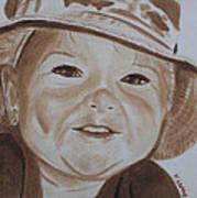 Kids In Hats - Fishing Trip Art Print