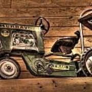 Kids Toy Pedal Tractor On Shelf Art Print