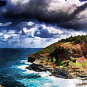Kilaeua Point National Wildlife Refuge- Kauai  Hawaii Art Print